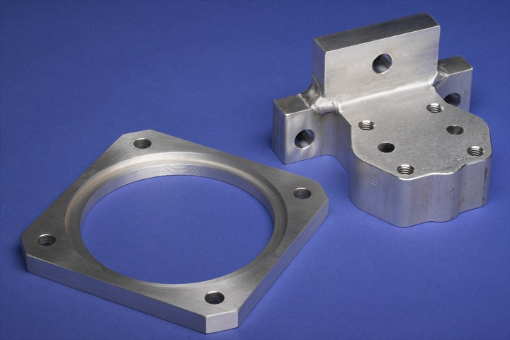 Aluminum CNC milling parts produced using 4th axis